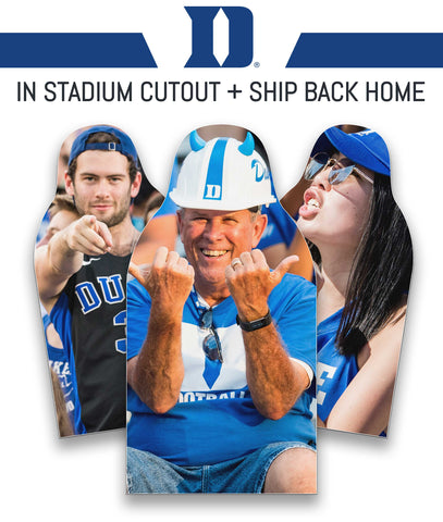 Duke Blue Devils Cutout In Stadium + Ship Back To You