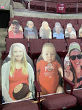 Buckeye Fan Cutouts at the Schott