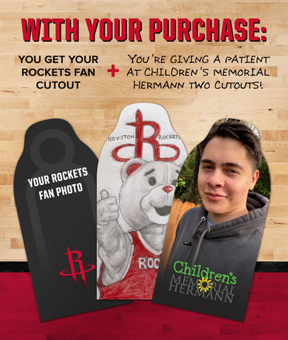 Houston Rockets & Children's Memorial Hermann Fan Cutouts