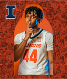 University of Illinois - Basketball Cutouts