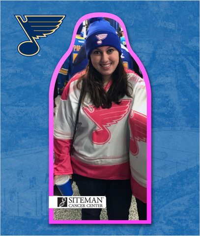 St. Louis Blues Pink at the Rink!