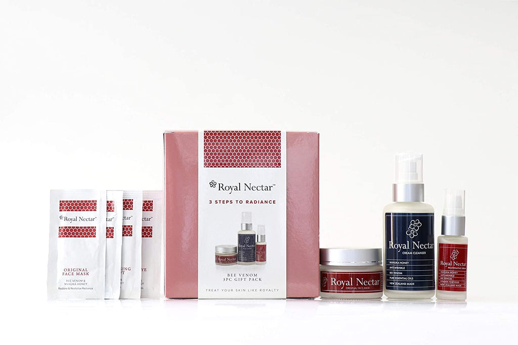 Royal Nectar 3 Steps to Radiance Gift Set - Manuka Honey & Bee Venom
