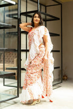 Load image into Gallery viewer, Hand Block Printed Mulmul Cotton Saree