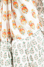 Load image into Gallery viewer, Butta Off White Frill Style Hand Block Printed Saree