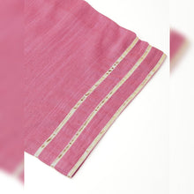 Load image into Gallery viewer, Onion pink & golden silk blend kurta with palazzos
