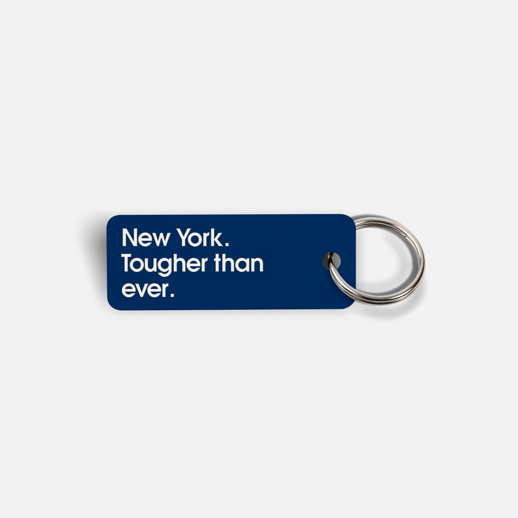 Various Keytags x New York. Tougher than ever. (Navy)
