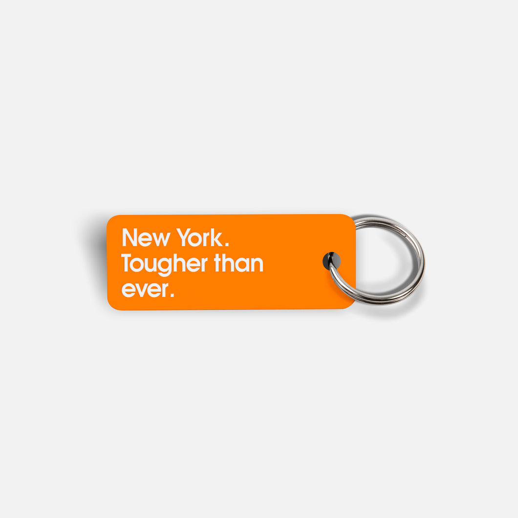 Various Keytags x New York. Tougher than ever. (Neon Orange)