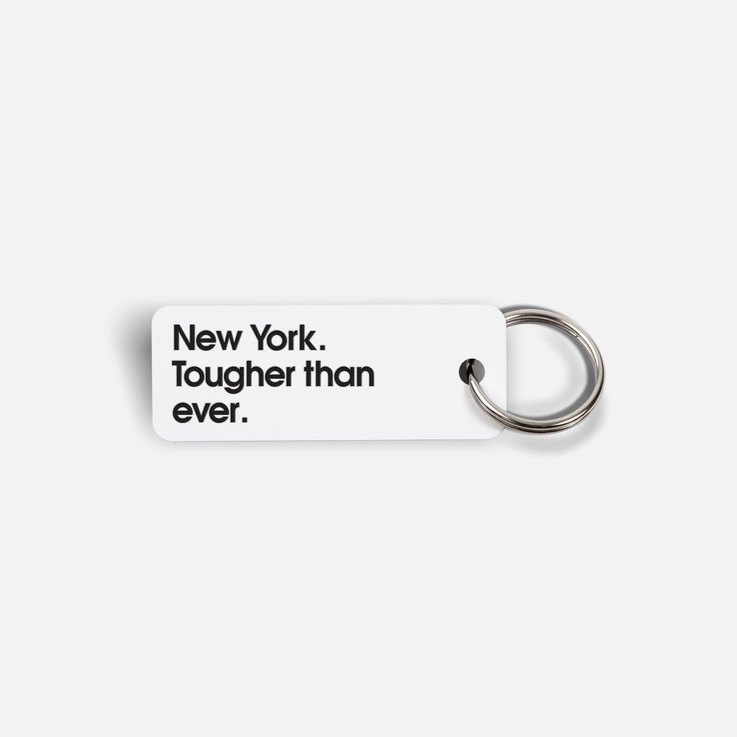 Various Keytags x New York. Tougher than ever. (White)