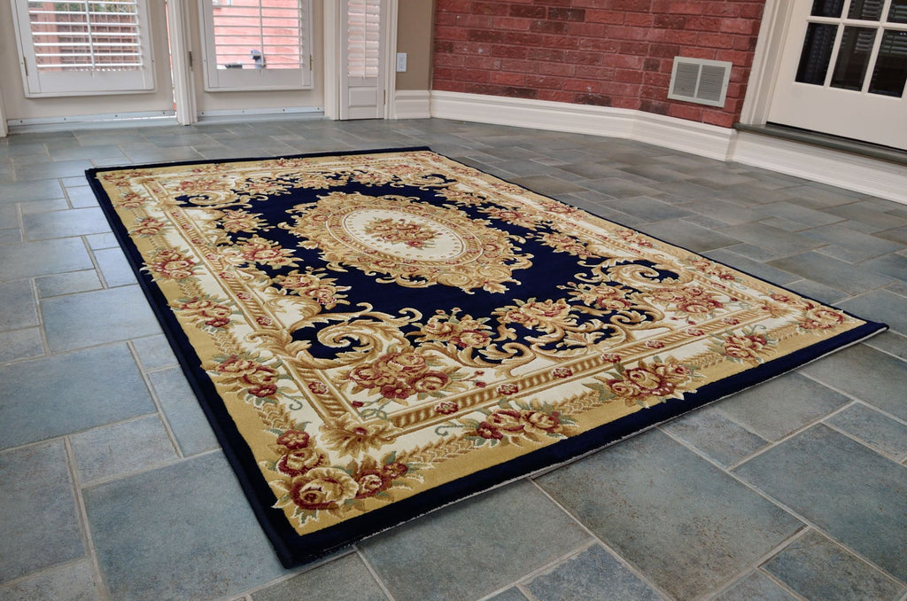 Blue Persian style rug