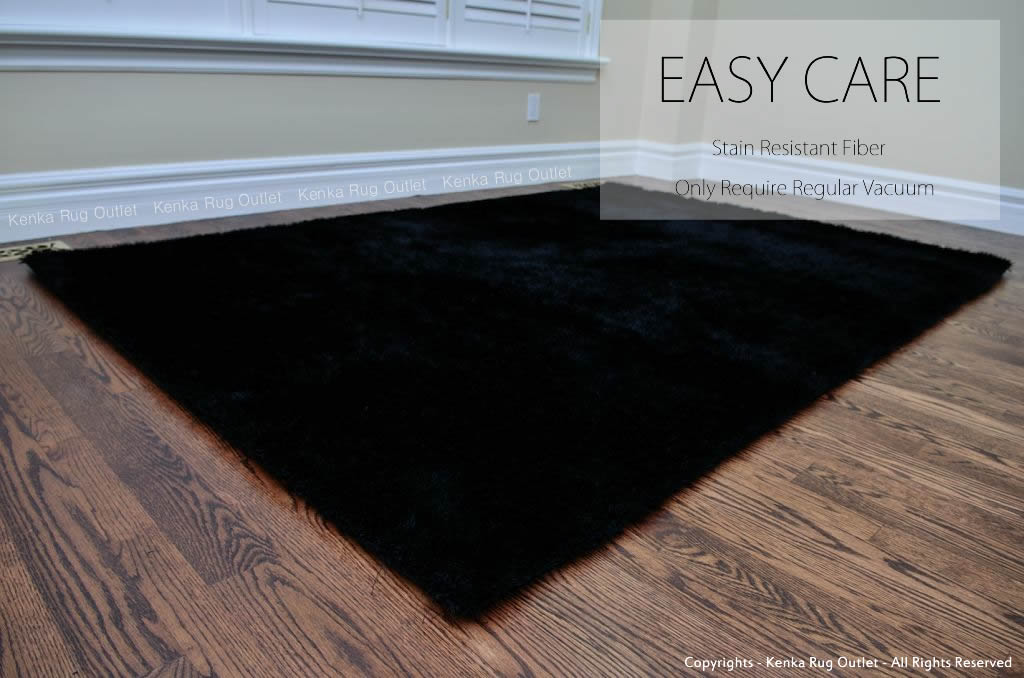 Black Super Shag Rug - Kenka Rug Outlet Toronto