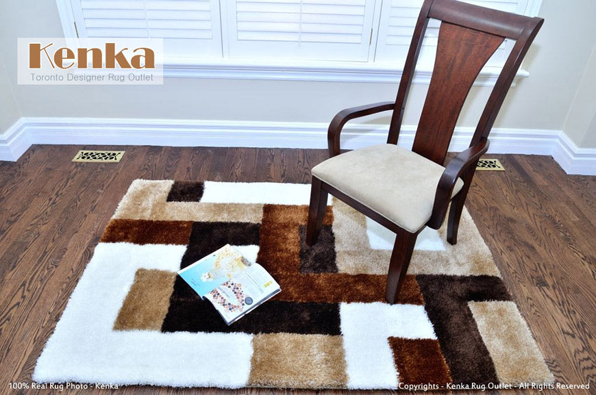 Sale Storm Square Brown Shag Rug