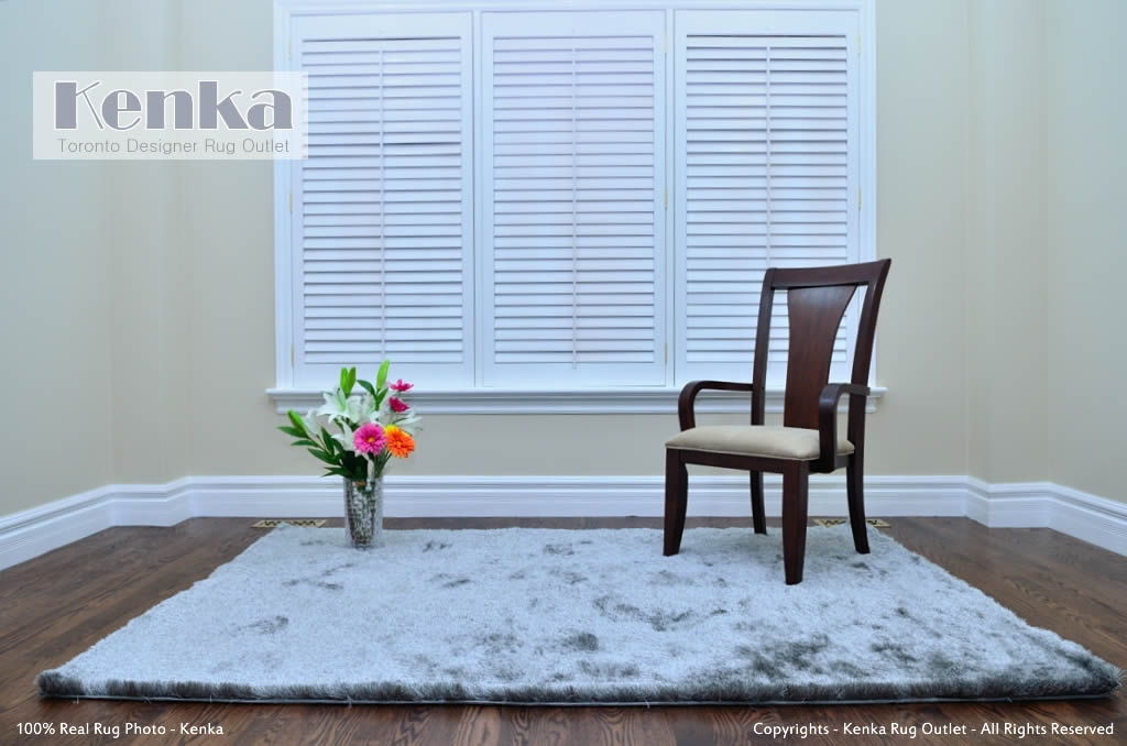 Silky Light Gray Shag Rug - Kenka Rug Outlet Toronto