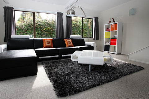 Picture of Storm Black Shag Rug
