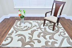 Transitional Sierra Beige Area Rug