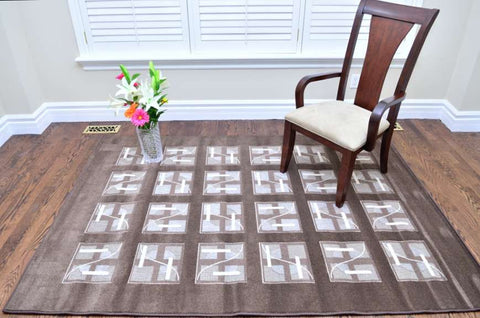 Picture of Modern Structurer Brown Area Rug