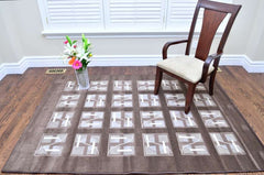 Modern Structurer Brown Area Rug