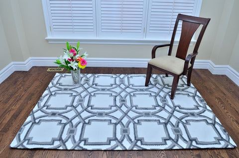 Picture of Modern Gray Circle Rug