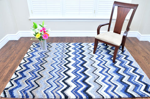 Picture of Nuance Blue Chevron Area Rug