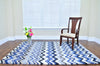 Nuance Blue Chevron Area Rug
