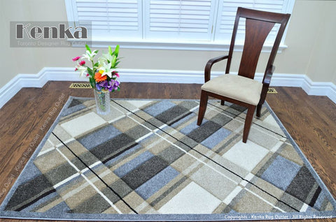 Picture of Sierra Grey Check Area Rug
