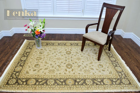 Picture of Chobi Brown Wool Area Rug
