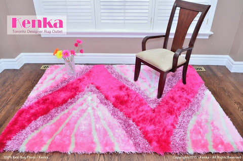 Picture of Colo Pink Shag Rug