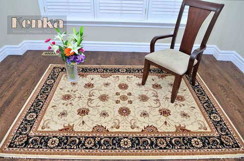 Picture of Royal Istanbul Chobi Black Area Rug