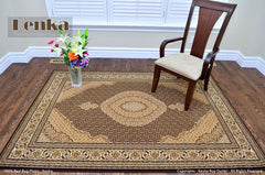 Royal Istanbul Mahi Brown Area Rug