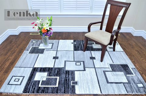 Picture of Rio Geometric Grey Area Rug