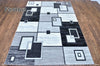 Rio Geometric Grey Area Rug