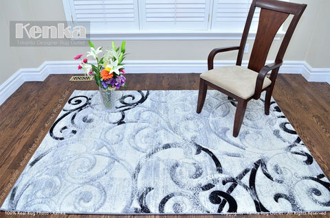 Picture of Sierra Carving Ivy Grey Design Area Rug
