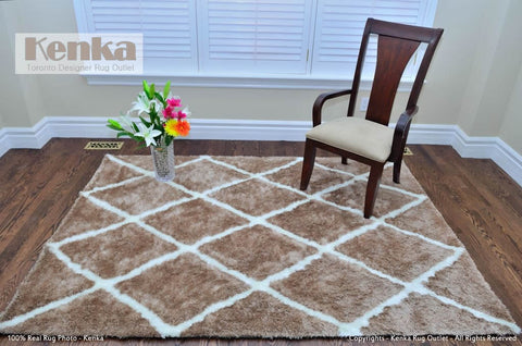 Picture of Storm Moroccan Beige Shag Rug