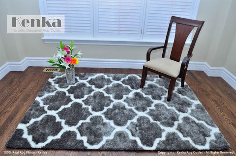 Picture of Storm Moroccan Gray Shag Rug