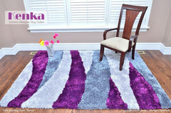 Storm purple shag rug