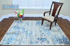 Antika Cream Blue Area Rug