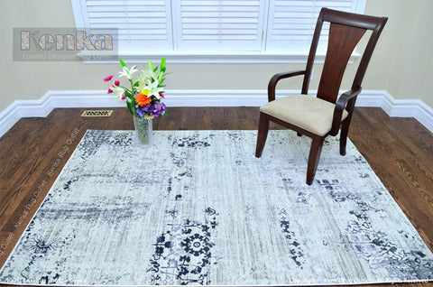 Picture of Antika Cream Grey Area Rug