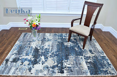 Antika Smoky Blue Area Rug