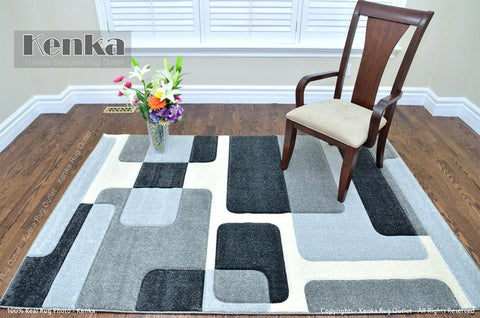 Picture of Sierra Grey Geometric Design Area Rug
