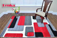 Sierra Red Geometric Design Area Rug