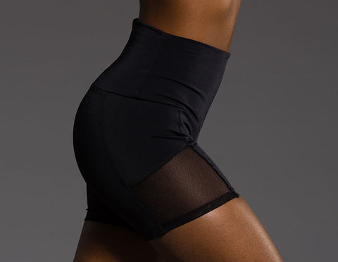 'Mia' Athletic Shorts with Mesh Cutouts