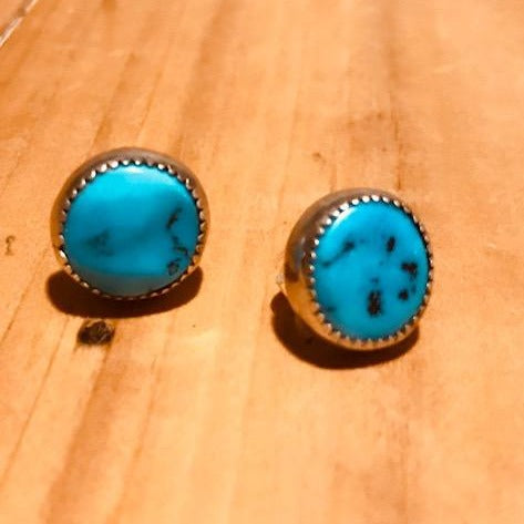 Turquoise studs from Sleeping Beauty Mine