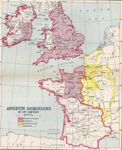 Extent of Angevin Territory