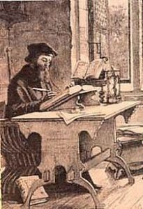 Wycliffe in his study