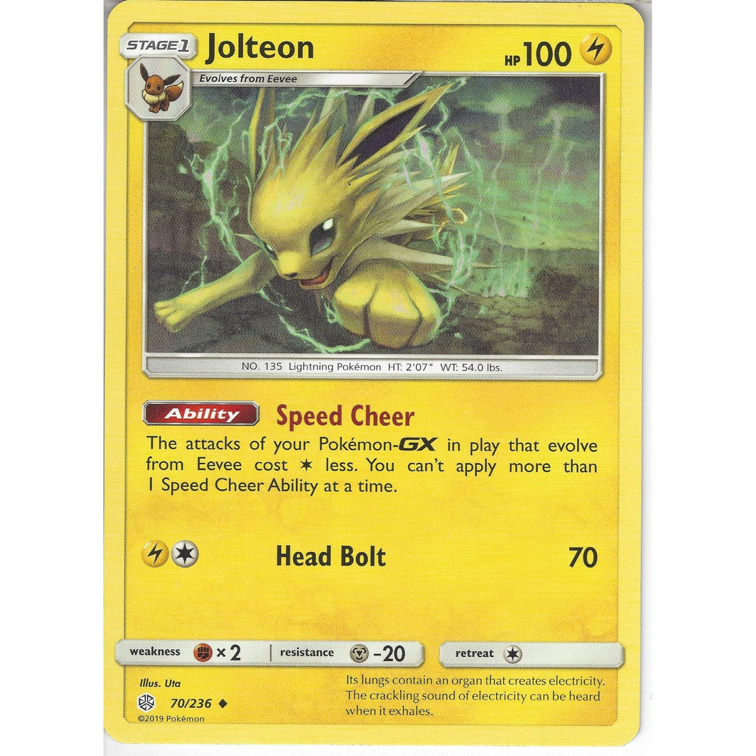236 Jolteon  Uncommon Card  SM12
