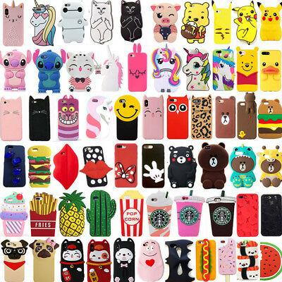 3D Cute Cartoon Soft Silicone coque
