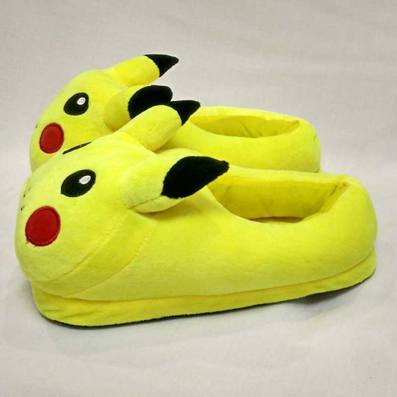 Animal Pikachu Slippers Pokemon WomenCotton Funny Home Shoes - [photosafe]
