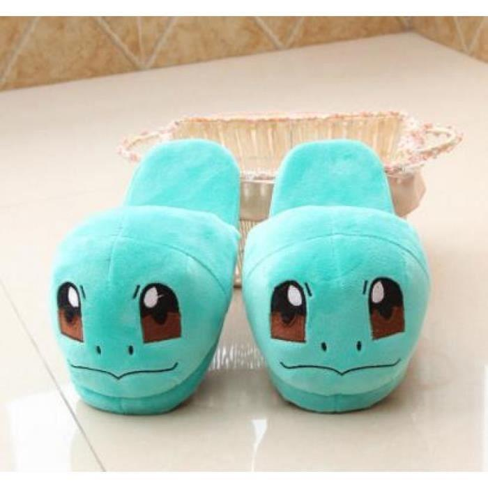 Anime Cartoon Pokemon Pantoufles amoureux chaud femme Chaussons