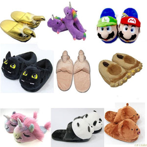 Anime Cartoon Pokemon Slippers Plush Shoes Home  Kids slippers