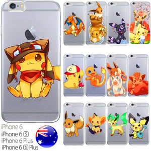 Cute Silicone coque coque Pokemon GO