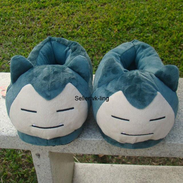 Fluffy Snorlax Indoor Slipper - Navy